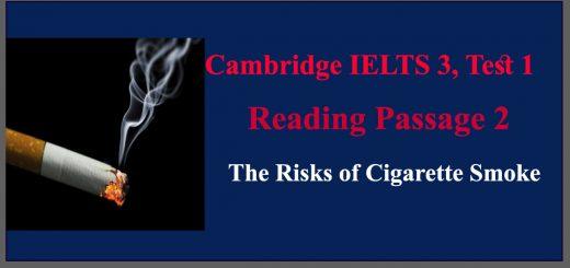 The Risks of Cigarette Smoke